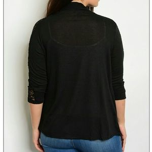 1eyed 1der boutique Sweaters - Open Cardigan with Lace